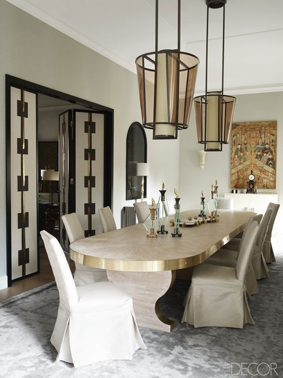 Dining Room By Achille Salvagni As Featured In Elle Decor
