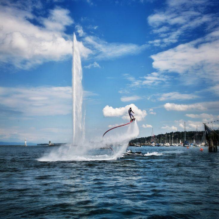 Flyboard, Geneva festival 2014.