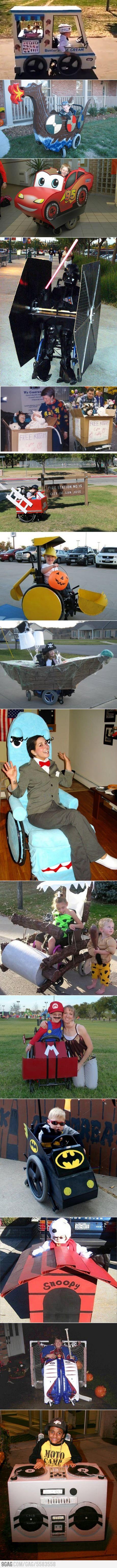 wheel chair costumes...so cute!