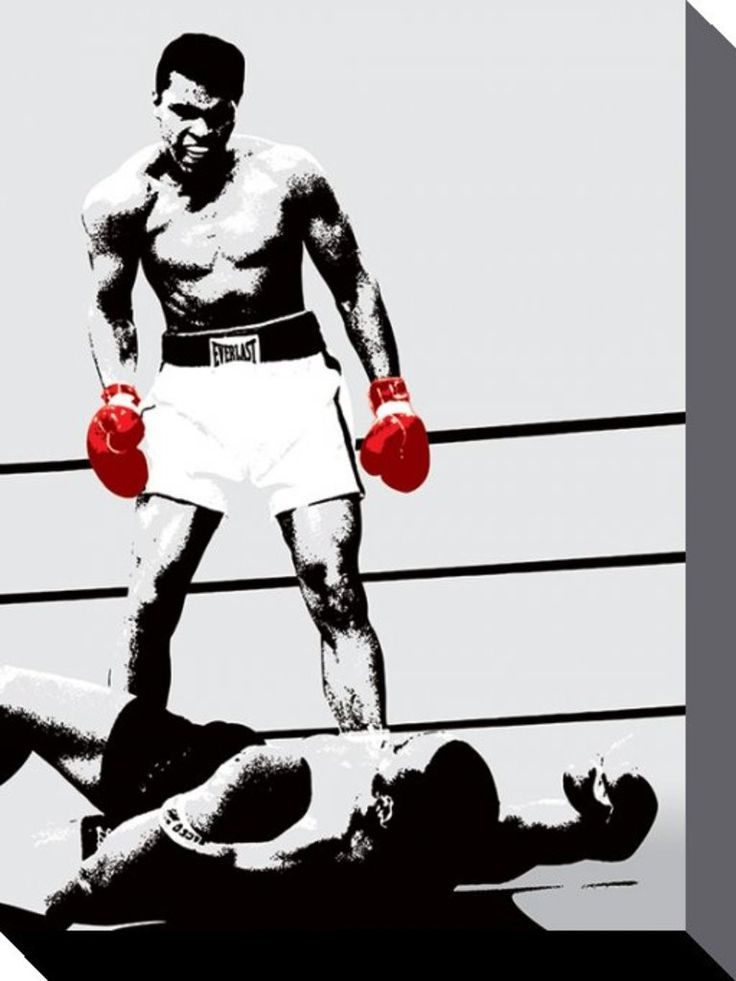 Muhammad Ali - Gloves - Official Canvas Print. Official Merchandise. FREE SHIPPING