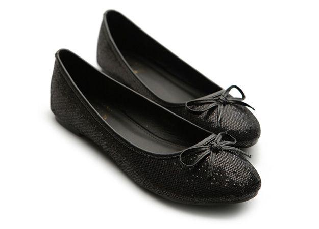Черные балетки