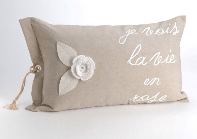 Coussin La vie en rose Amadeus Deco de charme