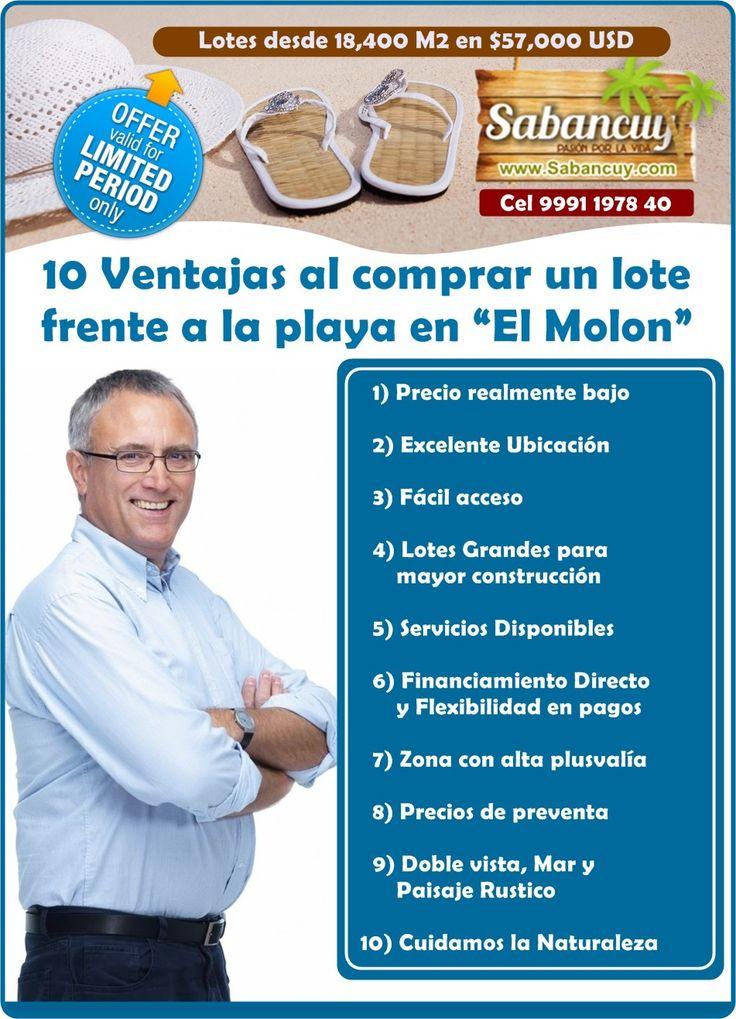 ventajas de comprar lotes y terrenos en las #playas de #sabancuy #campeche. Compre hoy su lote en http://www.realinmuebles.com/#terrenos-en-la-playa