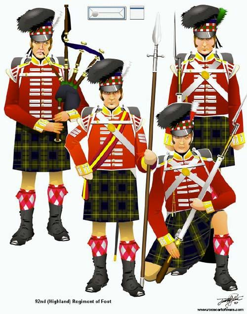 The Battle of Waterloo 18th June 1815: Highlanders Regiment, 92Nd Highlanders, Tim Reese, June 1815, Uniforms Military, British Uniforms, Graphics Books, Waterloo 1815, Military Uniforms