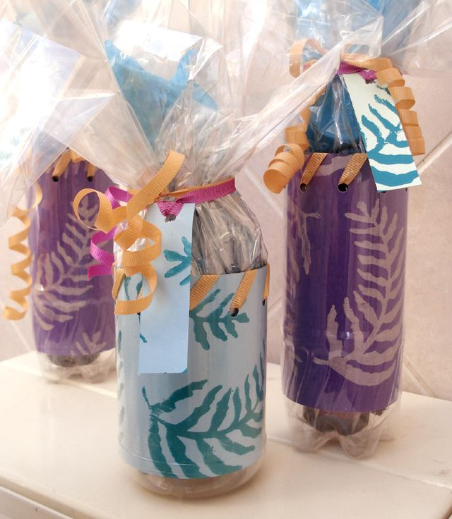 recycled soda bottles for treats or gifts