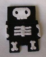 felt iphone skull case