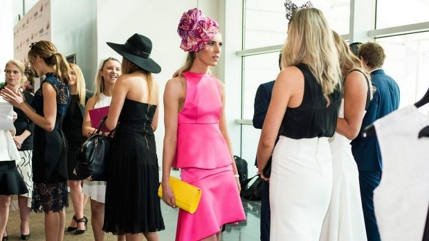 Combine pink and yellow for a winning - and on trend - look at the track on Cup Day or Oaks.