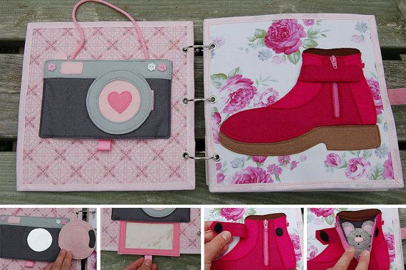Quiet book for girl by MirzaCrafts on Etsy More