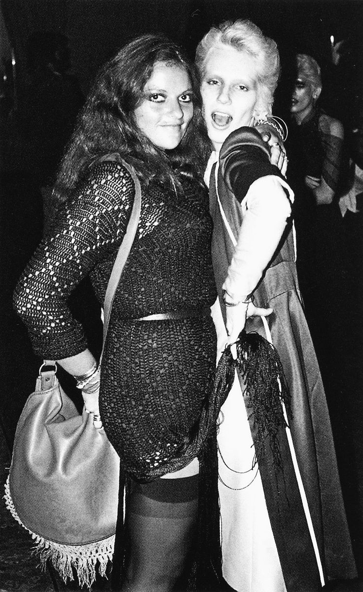 Dana Gillespie and Angie Bowie in the seventies