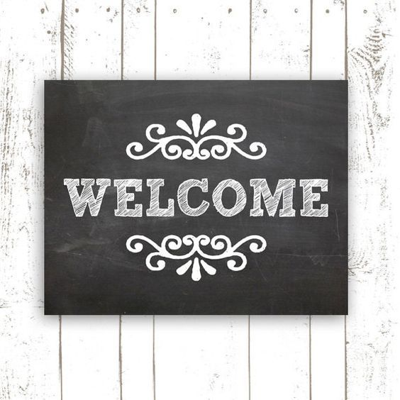 Printable Welcome Home Sign: 11x14 Inch Printable Welcome Sign
