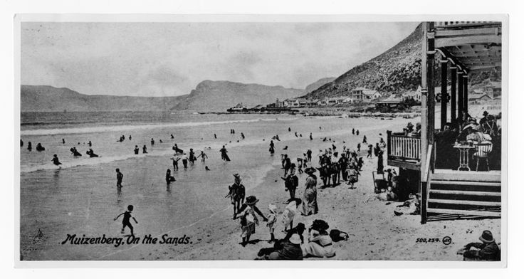 Undated photograph of Muizenberg Beach. From our MacMillan Collection, which contains thousands of images of the history of the Western Cape.