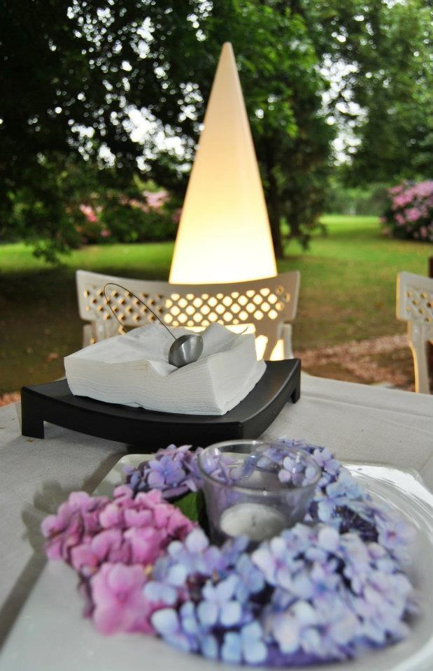 Detalle mesas de exterior, bodas Casa Setién.