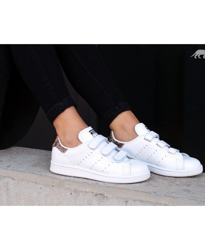 huge discount 0c855 059ec Adidas Stan Smith velcro White Womens Sale