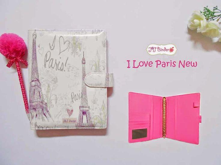 Nama  Produk : Binder Motif I Love Paris New Ukuran   :A5 20ring : 60rb, B5 26 ring : 70rb Bahan  : Kulit Sintetis Deskripsi : 3 slot kartu, 1 slot foto 1 Slot pulpen