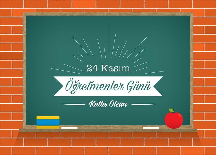 Vektörel Çizim | 24 Kasım Öğretmenler Günü Kutlu Olsun