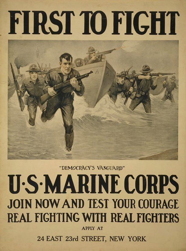 Marine Corps recruitment poster