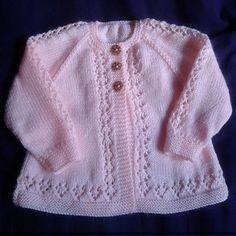 Beauty Baby Cardigan - Free Pattern. Sweet Knit Baby sweater. Pure joy, free baby knitting pattern