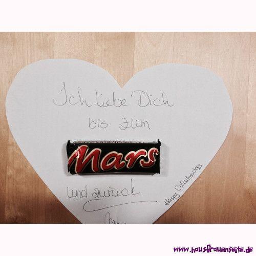 """Ich liebe Dich bis zum Mars - angelehnt an """"ich liebe dich bis zum Mond ... und zurück"""" eine herzige Valentinsidee, die weder hoche Kosten noch Aufwand macht"""