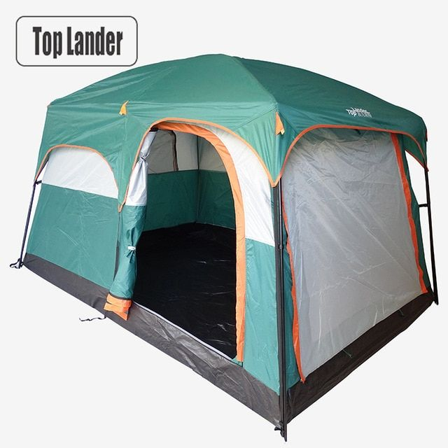4 6 Person Large Family Camping Tents Waterproof Double Layer Outdoor Party Two Bedrooms Windproof 4 Season Beach Cabin Family Tent Camping Tent Camping Tent