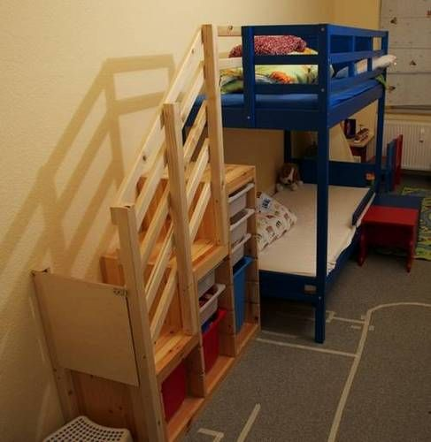 1000 ideas about bunk beds with stairs on pinterest for Wooden stair gate ikea