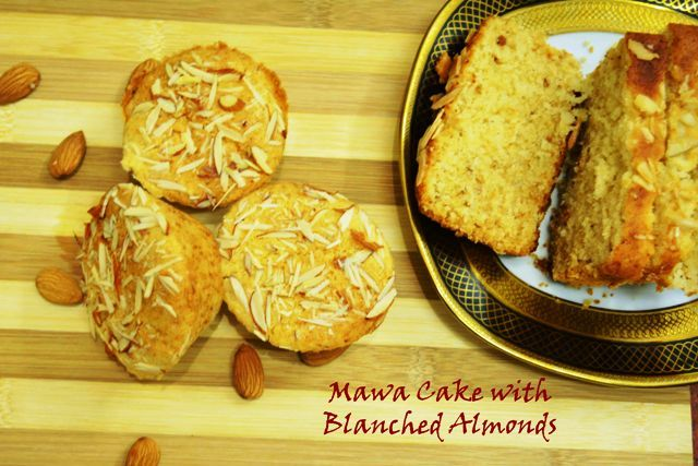 Eggless Mawa Cake With Blanched Almonds- Eggless Cakes  Make your teatime memorable with this #mawacake #khoya #mawa #eggless #mumbaispecial #irani #almond #egglesscake #teacake Recipe at: www.annapurnaz.in