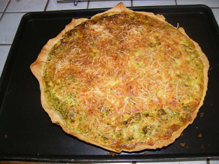 Quiche saumon brocoli boursin