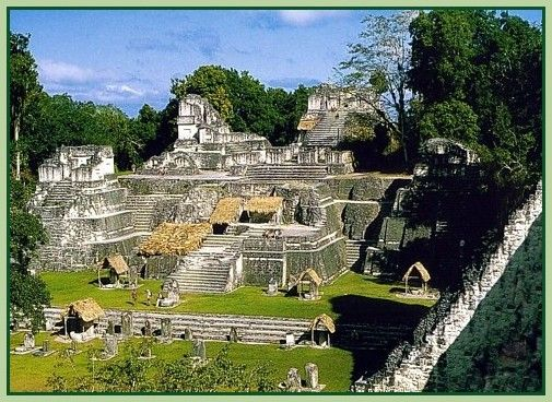 """It is said that Tikal is the largest complex of the Mayan world.   They know that there was a settlement here during 2000 BC,   and that around 250 AD , Tikal had reached it's  """"Golden Age"""""""