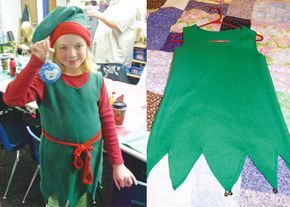 The Roots of Design: How to make an easy elf (or Peter Pan looking) costume