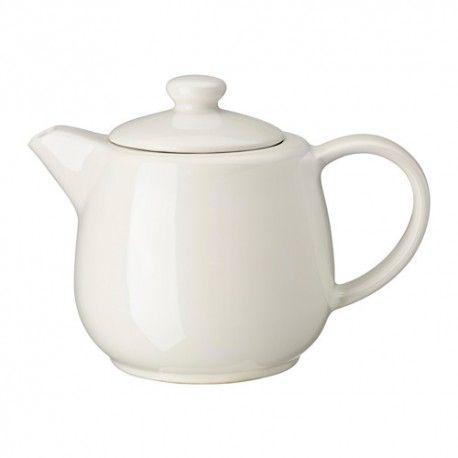VARDAGEN Czajniczek, kremowy, 1.2L, kamionka, 402.893.44, czajniczek do herbaty, akcesoria do herbaty, akcesoria ikea, zakupy z ikei