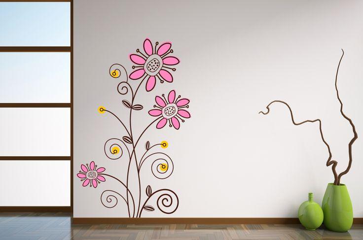 Buenos d as hoy os dejamos con un precioso vinilo floral fabricado en 3 colores a elegir - Los mejores vinilos decorativos ...
