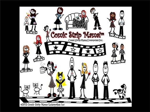 Click above to visit Comic Strip Mama.  Home is Where the Laughter is! - HOME IS WHERE THE LAUGHTER IS!