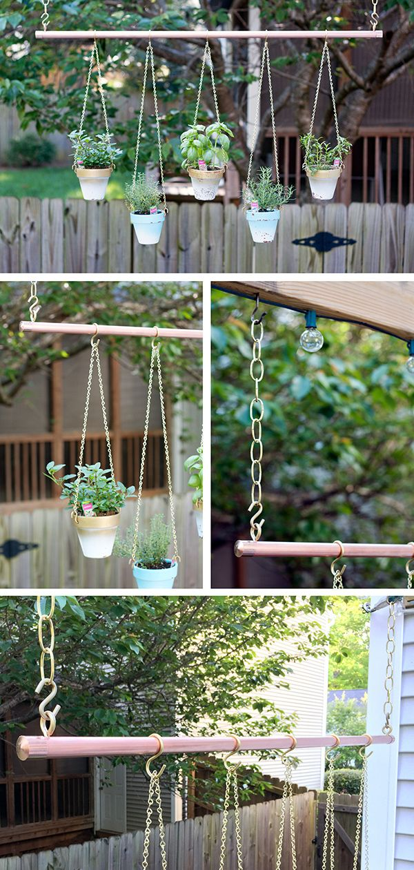 Hanging Wall Garden Diy : Best ideas about hanging herb gardens on