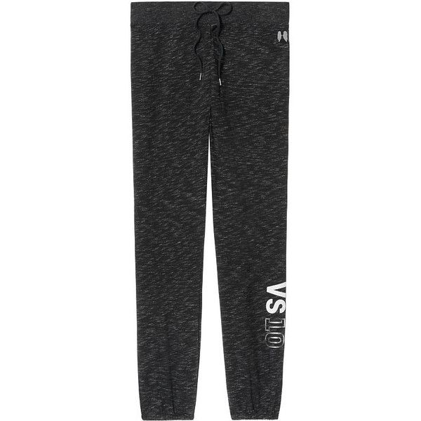 Victoria's Secret Gym Pant (2,055 DOP) ❤ liked on Polyvore featuring activewear, activewear pants, grey, victoria secret sportswear, victoria's secret, victoria secret activewear and gym pants