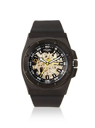 85% OFF Rotary Men's 611C Edition Black Rubber Watch
