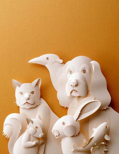 papercut animals