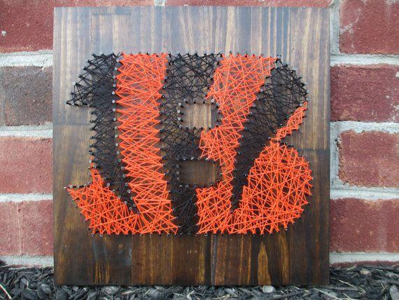 Cincinnati Bengals String Art, Wall Hanging, Wall Decor on Etsy, $50.00