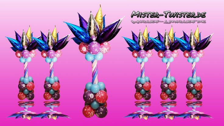 192  Balloon column, Decoration, Baby Shower, palm, Ballon Säule, Dekoration, Luftballon, Babypinkeln