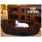 Majestic Pet Faux Suede Donut Pet Dog Bed Micro Suede