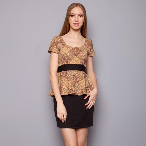 Teabag - Peplum Batik Dress IDR 175.000