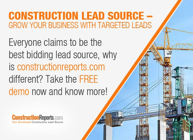 Construction Lead Source – Grow Your Business with Targeted Leads - Everyone claims to be the best bidding lead source, why is constructionreports.com different? Take the FREE demo now and know more!