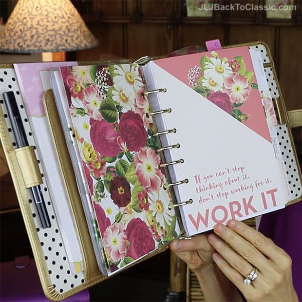 """(Video Review) Franklin Covey Classic """"Planner Love"""" Binder, 2017 Botanical Planner Inserts, and Accessories – JLJ Back To Classic/JLJBackToClassic.com"""