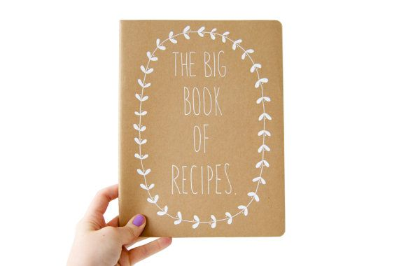 Cuaderno pautado grande  el gran libro de recetas por OHNORachio, £10.00