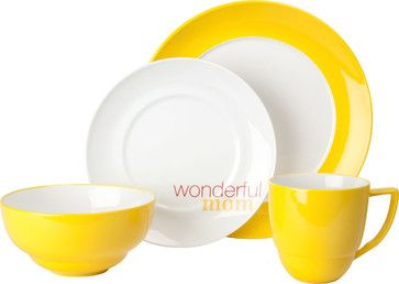 uno curry momu201d 4piece place setting - Modern Dinnerware