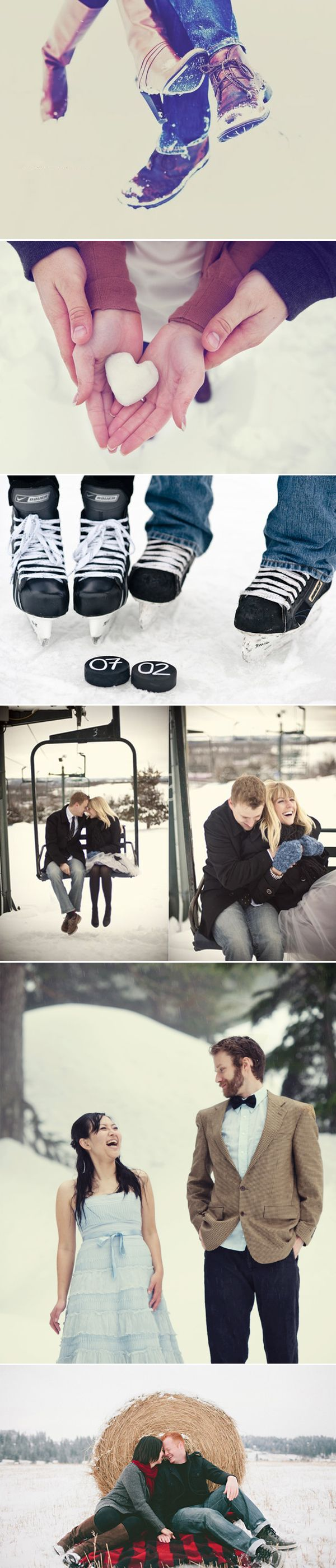 Inspiring Winter Engagement Sessions featured on Praise Wedding Inspirations - Wonderful collection - click through for info on photographers