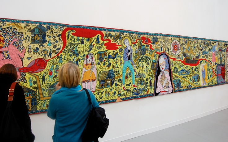 Was so delighted when this wonderful Grayson Perry Tapestry was displayed in the Discovery Centre. What a treat!