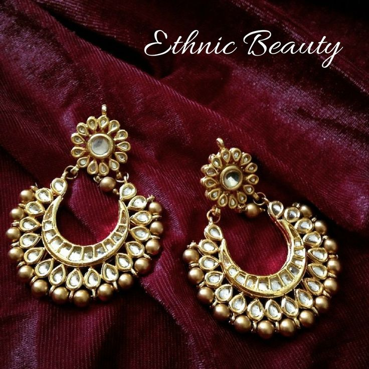 A pair like these pretty chand balis are a must have this #weddingseason! Buy your pair right away at Jivaana #rubyrangstudio #myjivaana #jhumkis #earrings #indianwedding