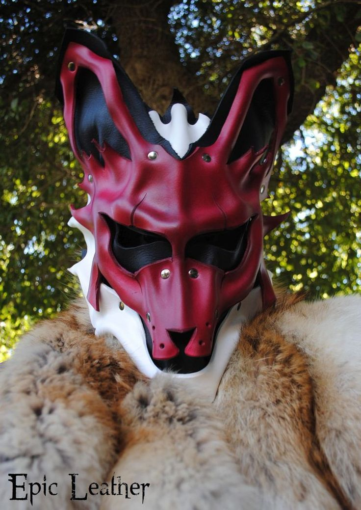 Leather Kitsune Mask by Epic-Leather