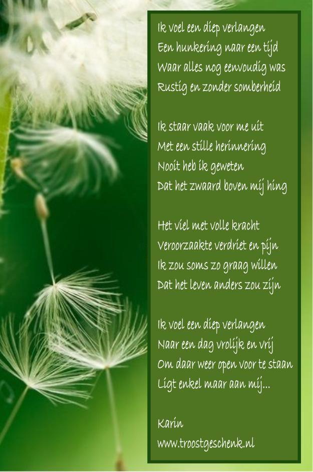 Dromend en terugkijkend naar het verleden. Verlangend dat het leven ooit weer zorgeloos zal zijn... de keuze ligt bij mij...www.troostgeschenk.nl