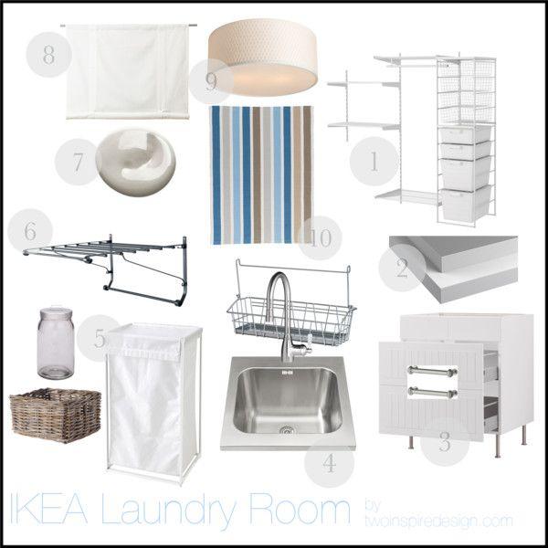 IKEA Laundry Room by tessa-twoinspiredesign, via Polyvore