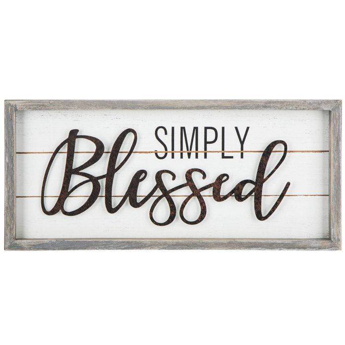 Simply Blessed Wood Wall Decor Hobby Lobby 1651389 Wall Decor Quotes Wood Wall Decor Wall Decor Online